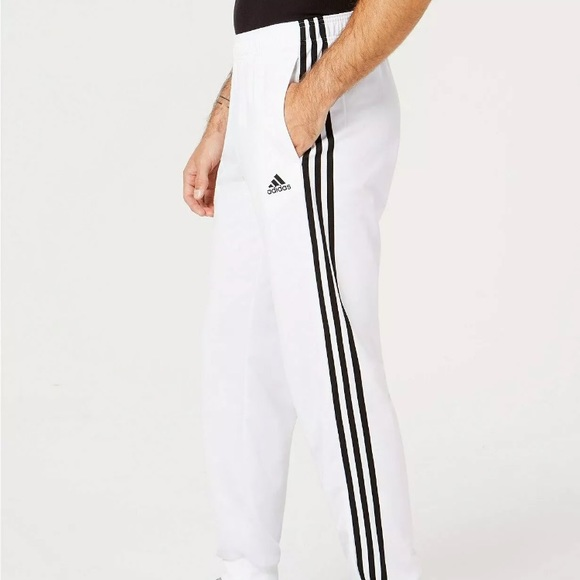 New! Adidas Essential 3 Stripe Tapered Pants Boutique
